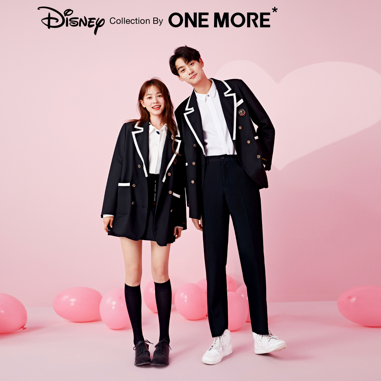 Disney cooperation one more2020 spring new school style suit suit women's top suit