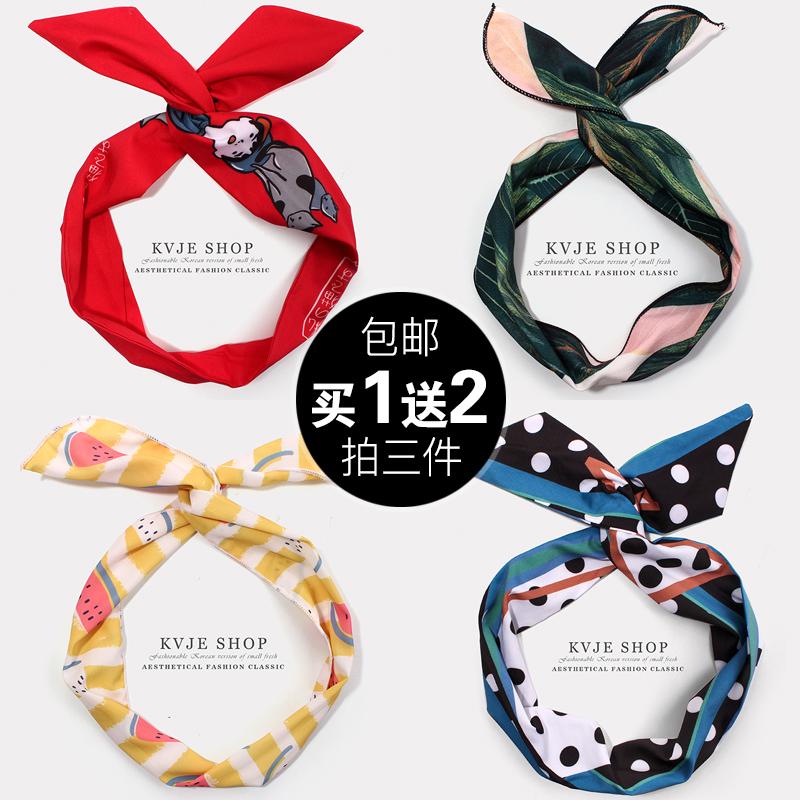 网红超仙chic风铁丝洗脸发带韩国头饰甜美森女系宽边个性欧美头箍