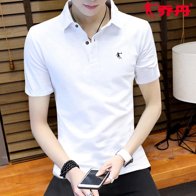 乔丹短袖T恤男夏季半袖男装翻领速干上衣polo衫男健身休闲运动服