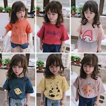 童装2020夏季 中小童儿童短袖T恤 男女童宝宝可爱圆领打底衫上衣