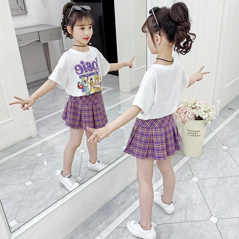 儿童装女童夏装套装短袖连衣裙女孩3网红4时髦5洋气6小孩7衣服8岁