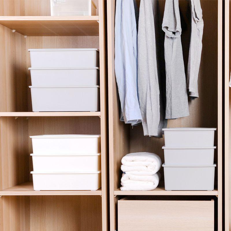 日式内衣收纳盒家用内裤短裤整理盒文胸袜子衣柜收纳箱有盖三件套