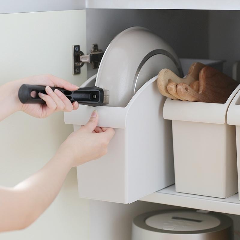 券后22.50元日式厨房用品塑料置物架简约省空间调味瓶收纳架子储物架刀架锅架