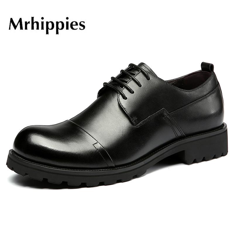 ヒッピースーツ男性靴2020新品ビッグサイズの革靴のストラップ本革ビジネスカジュアル低サポート厚い底の丸い頭
