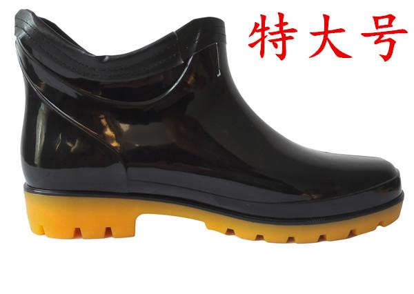特大码男士春秋短筒雨鞋45码47码48码49码50码防水透气防滑水鞋