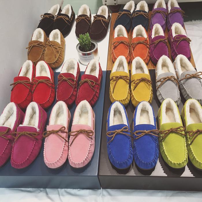 Осень и зима плюс ватки теплые ботинки девушки корейской версии фасоли сапоги плоские снега сапоги пара горох студент обувь женская обувь