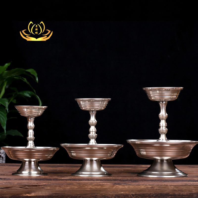 尼泊尔青铜护法杯供水碗供杯圣水杯藏传佛教用品/法器供品供具 Изображение 1