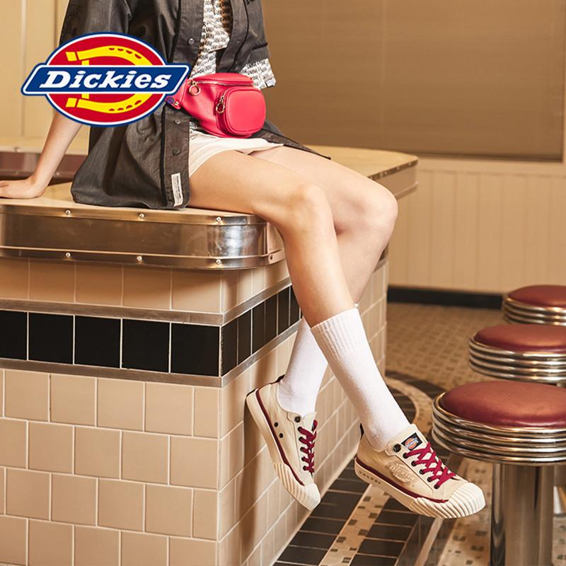 Dickies女鞋2020春季新款時尚學生帆布鞋女學院風百搭潮流低幫鞋