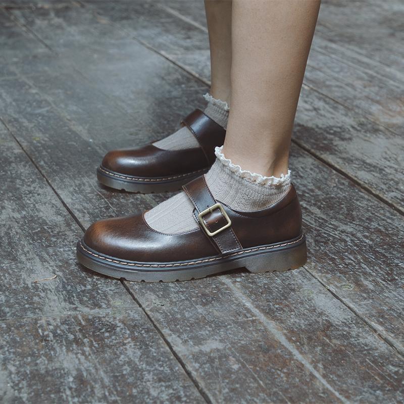 伯爵猫日系小皮鞋女浅口仙女复古学生学院风软妹玛丽珍单鞋lolita