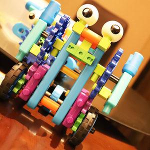 實驗室變形機器人積木大顆粒螺母擰螺絲組合拆裝拼插益智組裝玩具