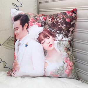 抱枕定制照片diy真人明星头像双面自己情侣一对人形印花枕头靠垫