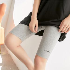 莫代尔打底裤女夏季五分薄款高腰外穿弹力显瘦防走光大码紧身短裤