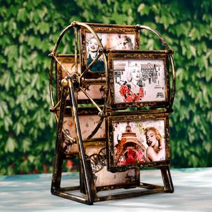 摩天轮旋转大风车相框5寸生日礼物儿童相架影楼摆台婚纱定制礼品