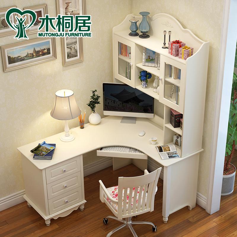Корейский угол книги стол дерево книжная полка книжный шкаф сочетание электрическое тело мозг рабочий стол домой студент поворот угол запись тайвань