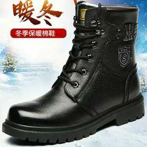 马丁靴男高帮冬季加绒保暖棉鞋英伦真皮靴内增高中帮工装雪地靴子