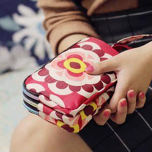 韩版帆布钱包女长款学生大容量布艺可放手机原宿风拉链手拿零钱包