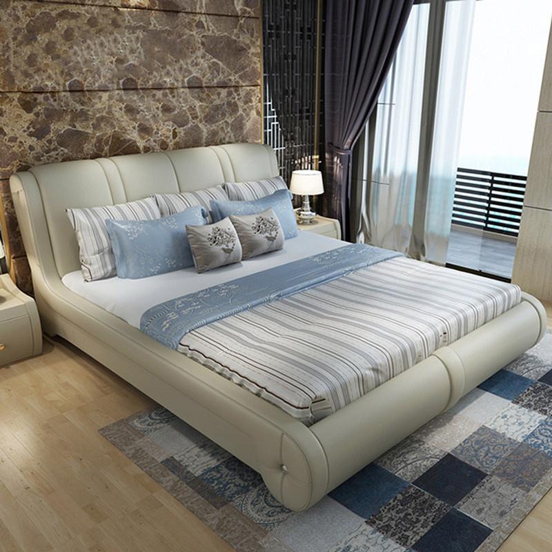 ベッド異形の真皮ベッド18メートルダブルベッドのメインベッドベッドの大ベッドの軟包ベッド現代カップルベッドネットの赤いベッドの皮革ベッド