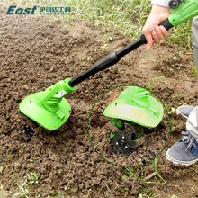 Electric micro-tiller looser herbicide charged small household multi-functional hoe farm implements rotary tiller plough