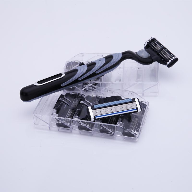 【特价促销】吉利锋速3刮胡刀剃须刀男士手动老式进口刀头刀片