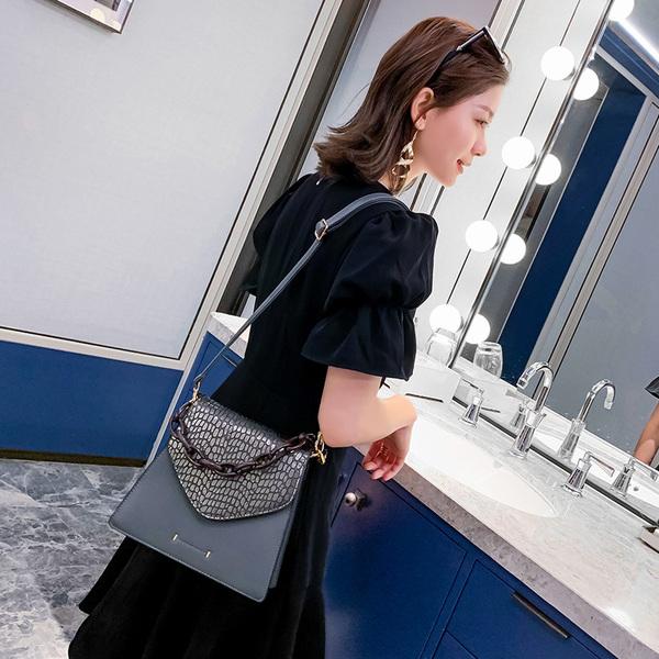 TS9921#有视频!女学生网红包包女新款斜跨单肩时尚百搭链条手提包
