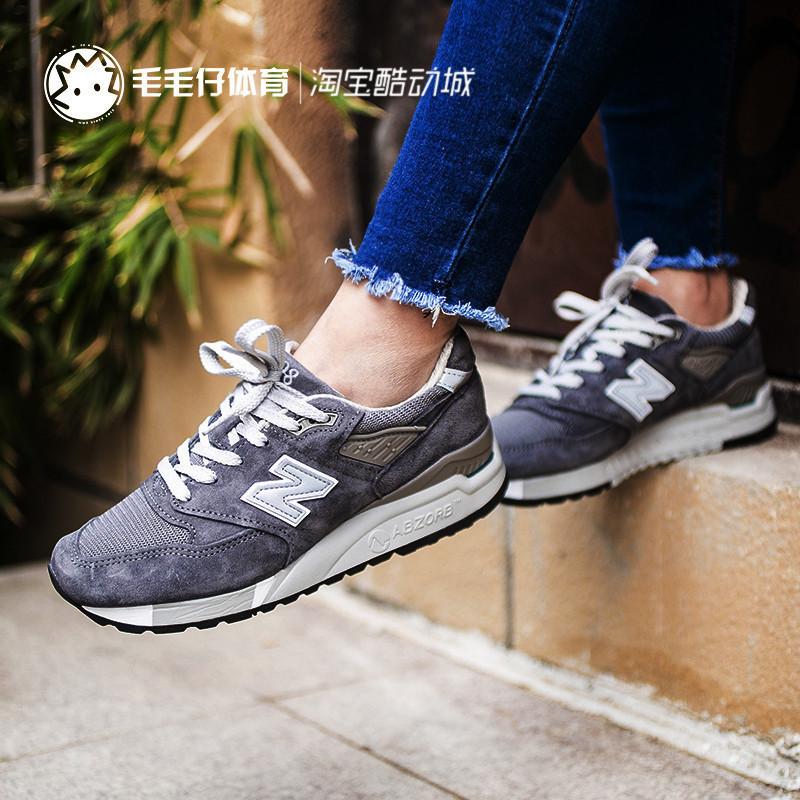 NEW BALANCE NB998新款女男鞋美产USA狼灰复古运动慢跑鞋W-M998CH