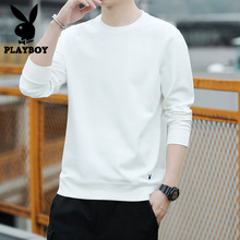 Playboy long sleeve t-shirt men's wear 2020 spring Korean fashion sweater men's white bottoming T-shirt