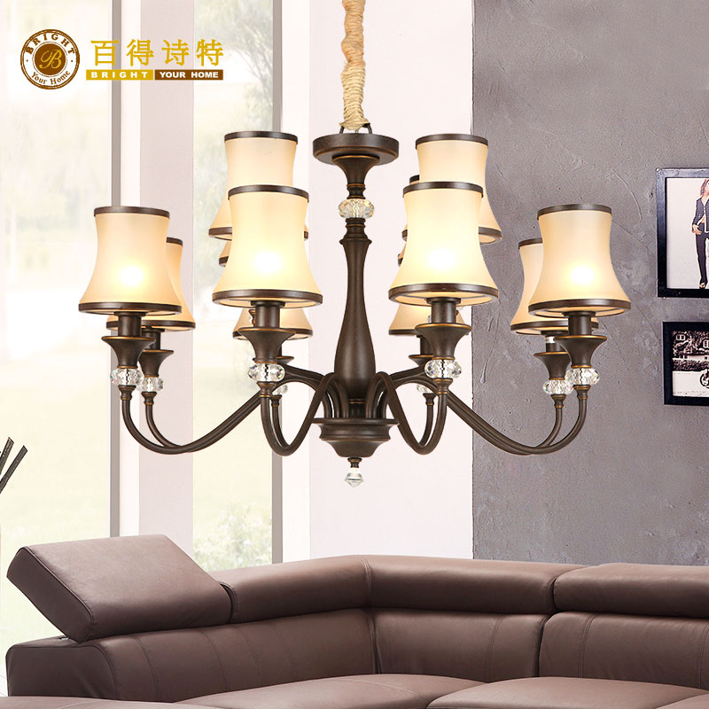 Baddest European Hestia series living room bedroom study hall 12 head chandelier ha10512