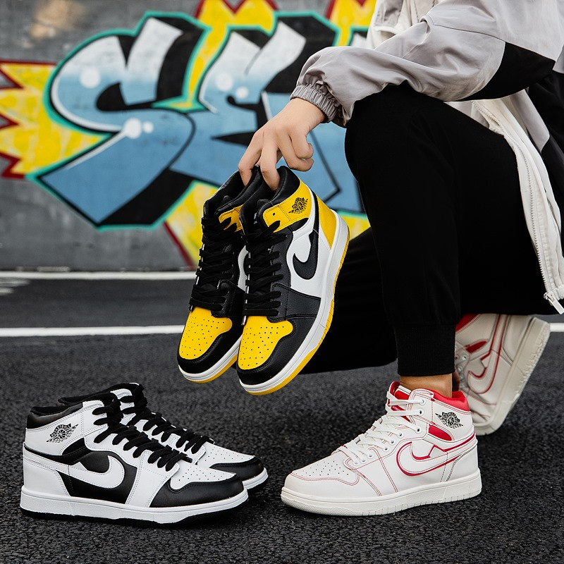 Aj1 north card blue Obsidian button ash Putian high top middle top mid sneakers black orange black and white panda