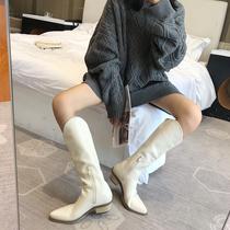 U3Q1DCD9潮休闲马丁靴ins秋商场新款厚底2019百丽高帮帆布鞋女