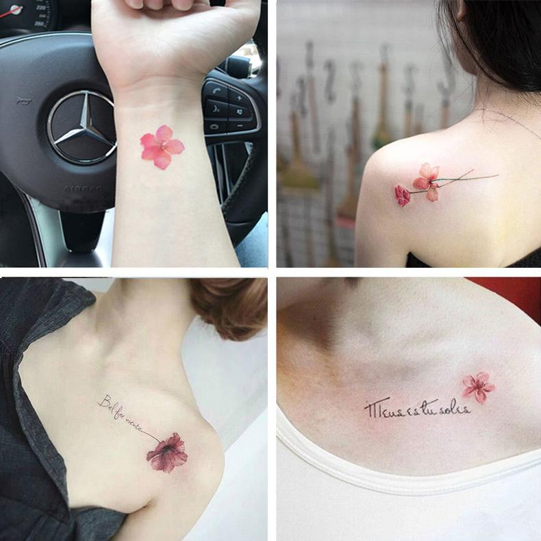 纹身贴防水 女持久 韩国小清新可爱性感锁骨脚踝玫瑰仿真纹身贴纸