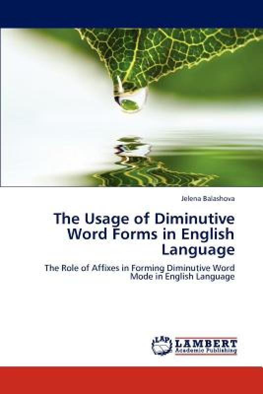 【预售】The Usage of Diminutive Word Forms in English