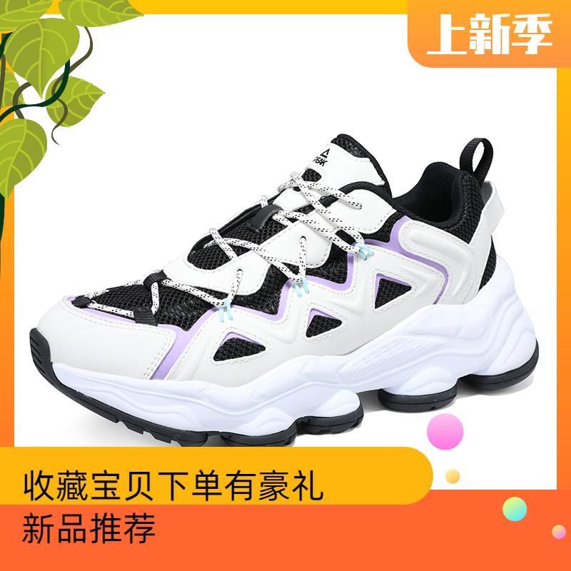 匹克休闲鞋女子时尚潮流2021春季新款系带舒适百搭运动鞋子