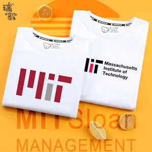 美国常青藤大学之MIT麻省理工学院男童装短袖T恤衫女儿童学生半袖