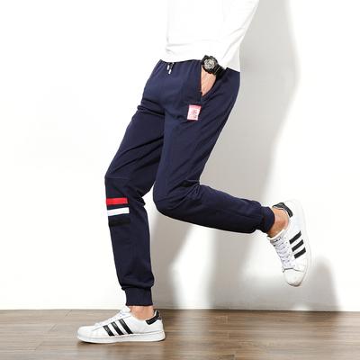 [2017春款]K9209 P55  韩版纯棉条纹休闲运动裤男 大码男裤