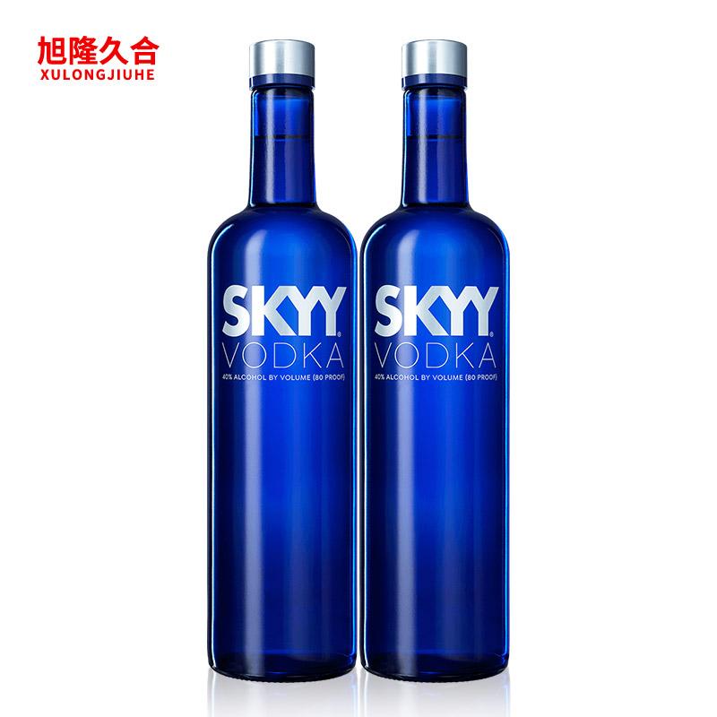 區域包郵正品 洋酒SKYY藍天伏特加 深藍伏特加 750ml^~2