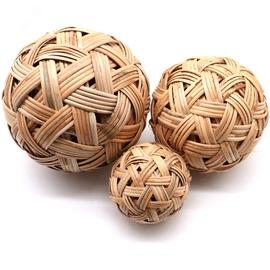手工编织球蹴鞠球天然缅甸藤球绣球道具球古代足球包邮儿童玩具球