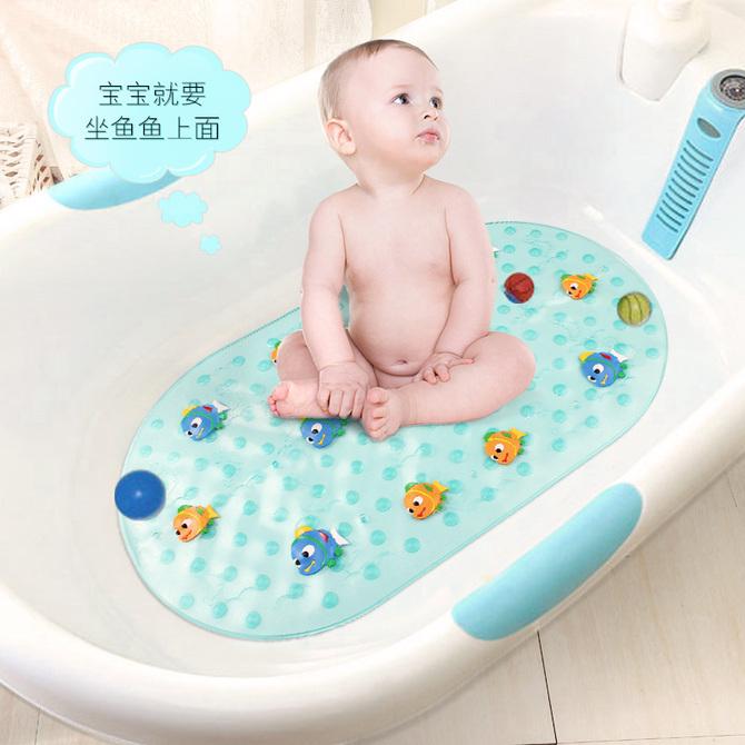 婴儿儿童卡通洗澡防滑垫宝宝小孩浴室地垫澡盆垫卫生间游泳池脚垫