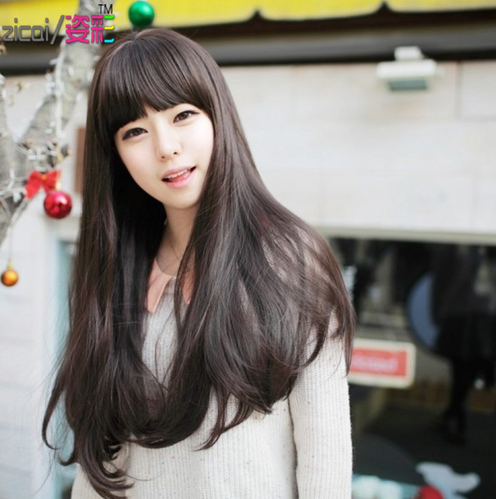 Korean Wigs Wig Accessories Hair Girls Scroll Fluffy Simulation