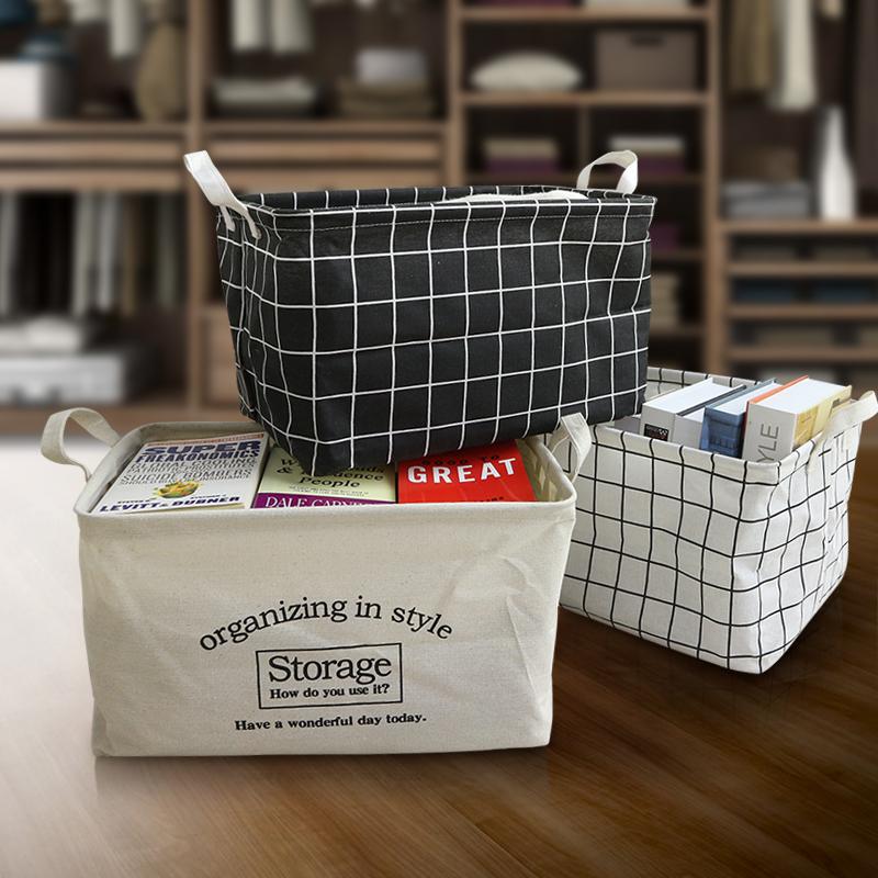 宿舍收纳筐布艺防水脏衣篮棉麻可折叠玩具箱洗衣脏衣篓家居收纳桶