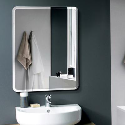 浴室镜子贴墙自粘厕所挂墙式家用免打孔洗手间镜卫生间化妆镜壁挂