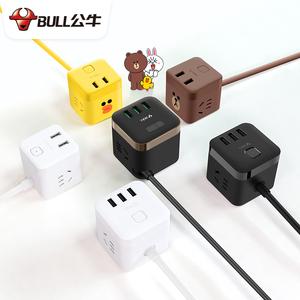 公牛插排带充电器插座小魔方usb多口排插拖线板5多功能插头转换器