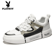 Playboy Men's Shoes Fall 2019 New Sports and Leisure Shoes Summer Men's Shoes Trend Korean Version Small White Board Shoes