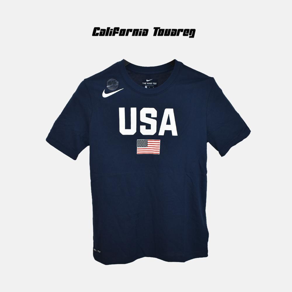 耐克NIKE USA 美国队世界杯训练男篮球运动速干短袖T恤AV4352-451