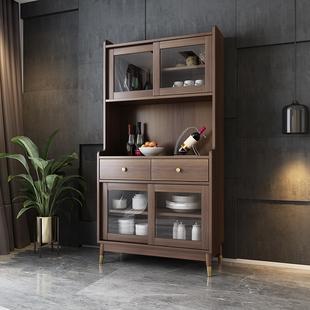 北欧简约餐厅高柜餐边柜储物柜 现代厨房橱柜碗柜酒柜收纳柜一体价格