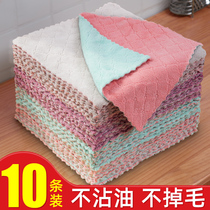 Dishcloth cloth dishcloth household cleaning kitchen supplies towel to oil household absorbent lazy not Lint does not stick to oil