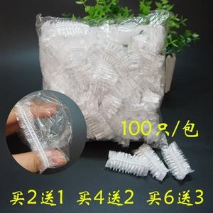 热销一次性塑料防水耳罩焗油染发洗澡洗头护耳松紧口耳套100只