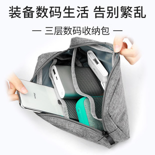 耳机收纳包便携旅行袋数据线收纳盒小米充电宝充电器键盘盒子迷你小数码帆布袋整理U盘U盾移动硬盘保护套配件