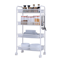 Heart Ikea with wheel shelf can be moved kitchen bathroom bedroom bedside storage shelf landing small trolley