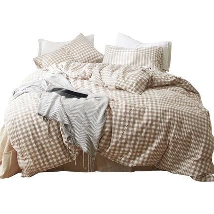 无印良品水洗棉床上四件套全棉被套