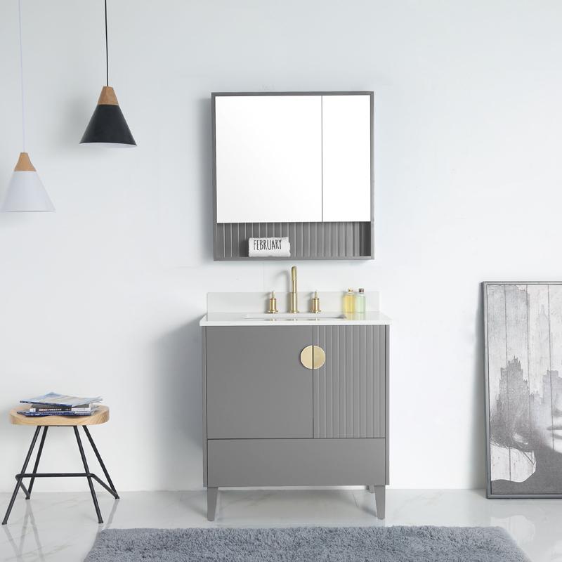 正品保证北欧风格浴室柜组合轻奢卫生间洗漱台卫浴柜现代简约洗脸洗手盆柜